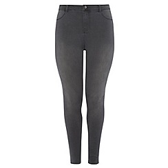 Dorothy Perkins - Dp curve charcoal fly front jeggings