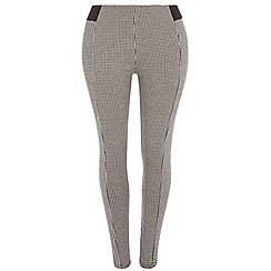 Dorothy Perkins - Curve mono puppytooth side treggings
