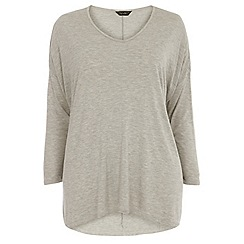 Dorothy Perkins - Curve grey extreme dip back t-shirt