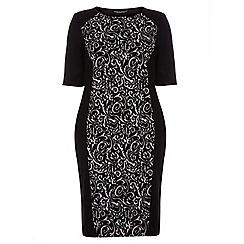 Dorothy Perkins - Curve mono baroque bodycon dress
