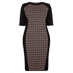 Dorothy Perkins - Curve nude tile panel bodycon dress