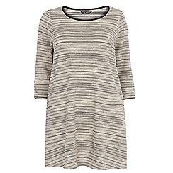 Dorothy Perkins - Curve stone jacquard split side t-shirt