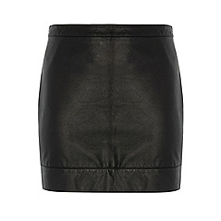 Dorothy Perkins - Dp curve black pu mini skirt