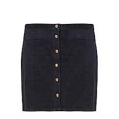 Dorothy Perkins - Dp curve indigo denim button mini skirt