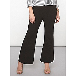 Dorothy Perkins - Curve black formal boot cut trousers