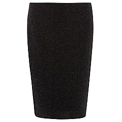 Dorothy Perkins - Curve black and silver tube skirt