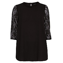 Dorothy Perkins - Curve berry lace swing top