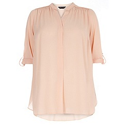 Dorothy Perkins - Curve blush long sleeve top