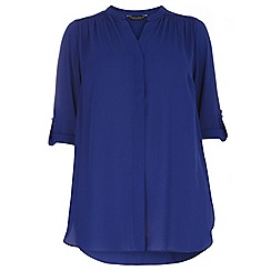 Dorothy Perkins - Curve cobalt long sleeve top