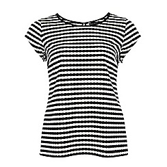 Dorothy Perkins - Dp curve black and white stripe t-shirt