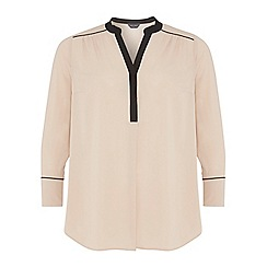 Dorothy Perkins - Dp curve stone and black contrast blouse