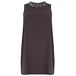 Dorothy Perkins - Curve side split embellished longline top