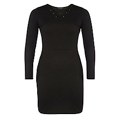 Dorothy Perkins - Dp curve black lace-up bodycon dress