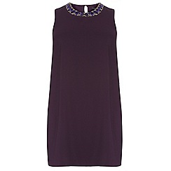 Dorothy Perkins - Curve purple side split embellished longline top