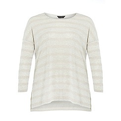 Dorothy Perkins - Dp curve grey and blush stripe  jumper