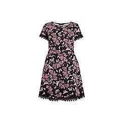 Dorothy Perkins - Curve butterfly lace trim fit and flare dress