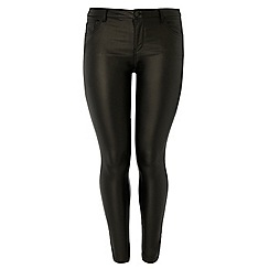 Dorothy Perkins - Dp curve black pu coated jeans
