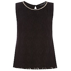 Dorothy Perkins - Curve black sleeveless embellished top