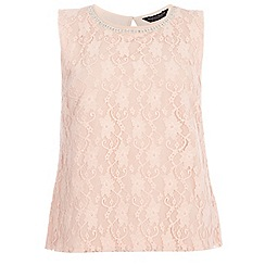 Dorothy Perkins - Curve blush sleeveless embellished top