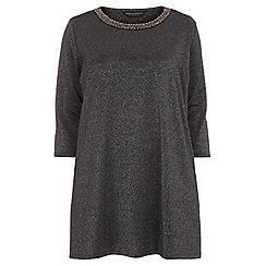 Dorothy Perkins - Curve black embellished tunic