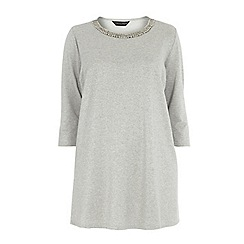 Dorothy Perkins - Curve silver embellished tunic