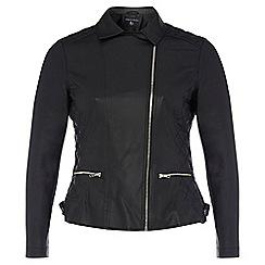 Dorothy Perkins - Dp curve black pu biker jacket