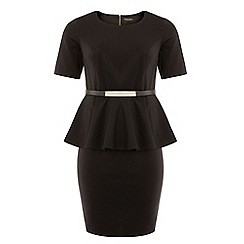 Dorothy Perkins - Dp curve black short sleeved peplum dress