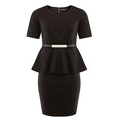 Dorothy Perkins - Dp curve black short sleeved peplum dress