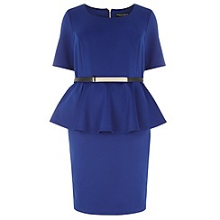 Dorothy Perkins - Dp curve blue short sleeved peplum dress