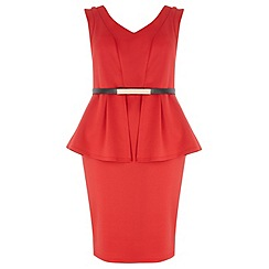 Dorothy Perkins - Dp curve red peplum dress