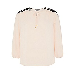 Dorothy Perkins - Dp curve blush long sleeved peasant blouse