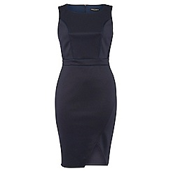 Dorothy Perkins - Dp curve navy bodycon and lace dress