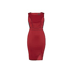Dorothy Perkins - Dp curve red and black bodycon dress