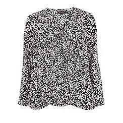 Dorothy Perkins - Curve mono spot print v-neck blouse
