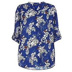 Dorothy Perkins - Dp curve blue butterfly print blouse