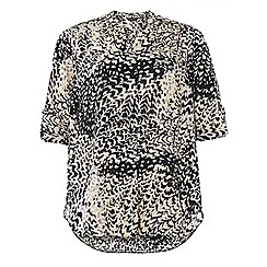Dorothy Perkins - Dp curve animal printed roll sleeve blouse