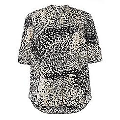 Dorothy Perkins - Dp curve animal printed roll sleeve blouse