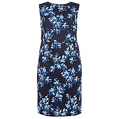 Dorothy Perkins - Curve navy floral pencil dress
