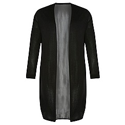 Dorothy Perkins - Dp curve black woven back cardigan