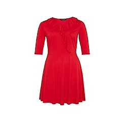 Dorothy Perkins - Dp curve red frill front wrap dress