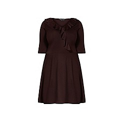 Dorothy Perkins - Dp curve aubergine frill front wrap dress