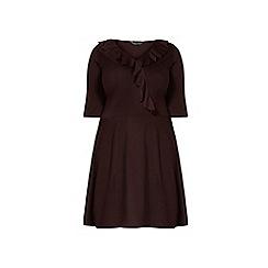 Dorothy Perkins - Dp curve aubergine frill front wrap dress