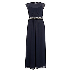 Dorothy Perkins - Dp curve navy embellished waist maxi dress
