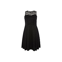 Dorothy Perkins - Dp curve black lace tie back prom dress