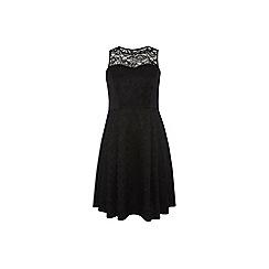 Dorothy Perkins - Dp curve black lace tie back prom dress