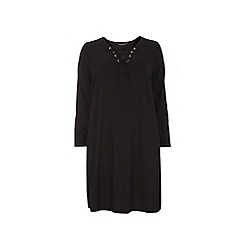 Dorothy Perkins - Curve jersey eyelet swing dress