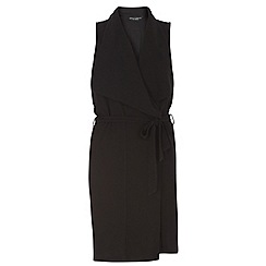 Dorothy Perkins - Dp curve black sleeveless duster coat