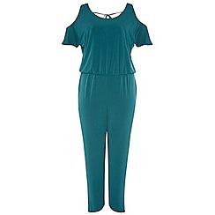 Dorothy Perkins - Dp curve green jersey cold shoulder jumpsuit