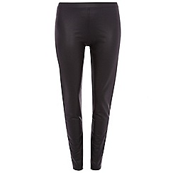 Dorothy Perkins - Curve black coated treggings