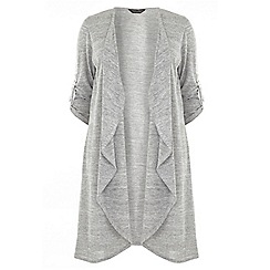 Dorothy Perkins - Dp curve light grey d-ring cardigan